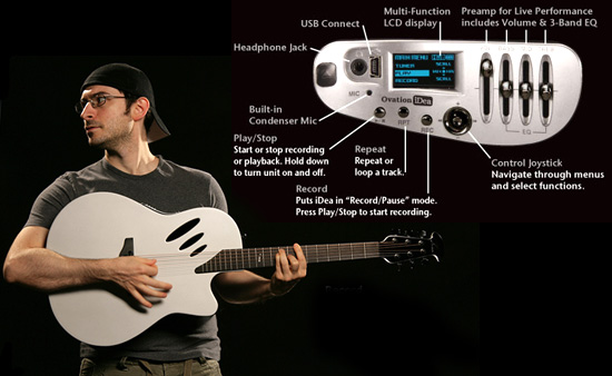 Ovation iDea puts first MP3 recording in a guitar