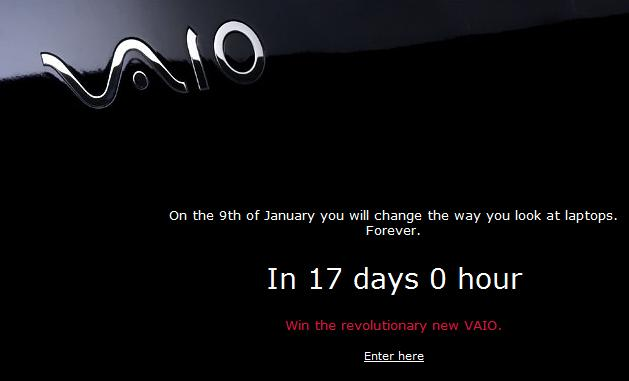 Sony new VAIO teaser campaign: netbook announcement January 9th?