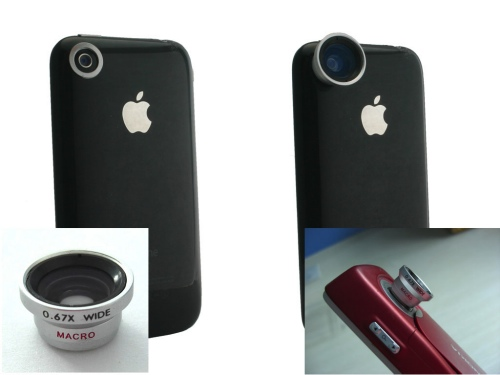 Magnetic zoom & fish-eye lenses for iPhone 3G