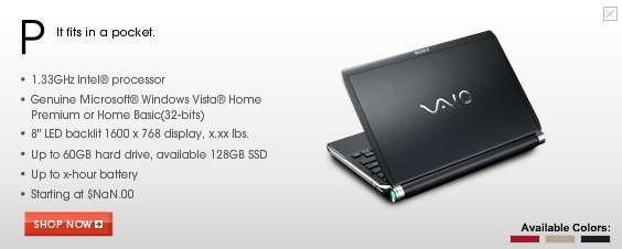 "VAIO P Netbook: ""It fits in a pocket"", says Sony"