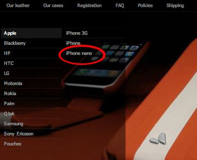 Vaja add iPhone nano category to case listings