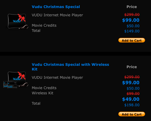 Vudu unveils Holiday Special with $200 deep discount