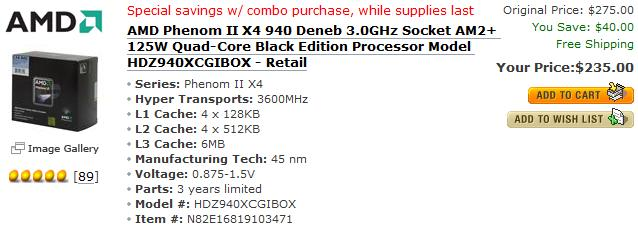 AMD drop Phenom II prices in response to Intel