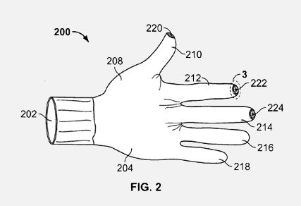 Apple iPhone touchscreen gloves patented