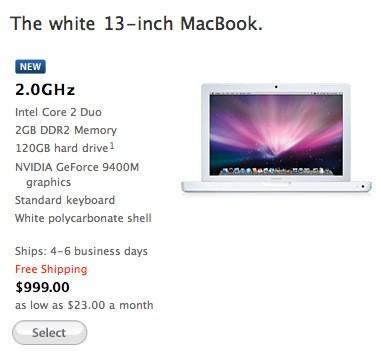 Apple white MacBook specs updated: better CPU & graphics, 2GB RAM
