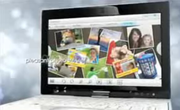 ASUS Eee PC Touch UI for T91 multitouch netbook: Video Demo