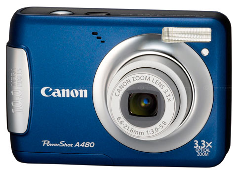 Canon basic PowerShot A480 shown up in Europe