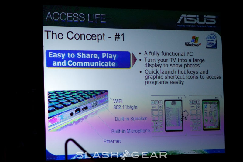 CES 2009: ASUS Eee Keyboard with integrated touchscreen