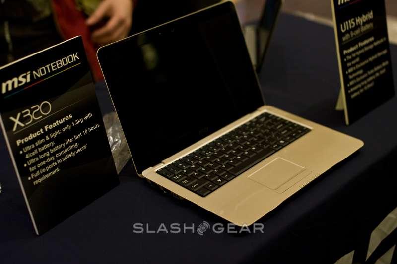 CES 2009: MSI X320 Super-slim Notebook