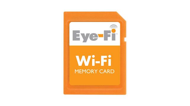 Eye-Fi wireless memory card uploads video to YouTube