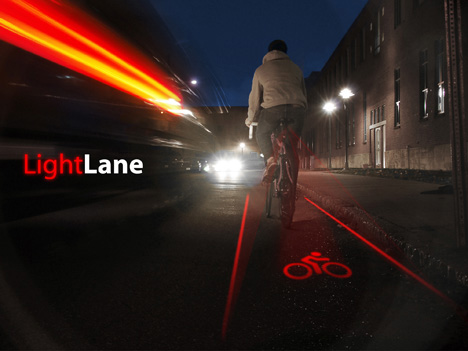 No bicycle lane? Create your own with LightLane