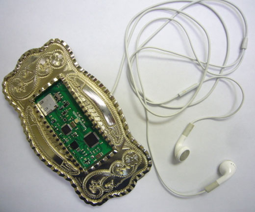 Make your belt buckle play MP3s