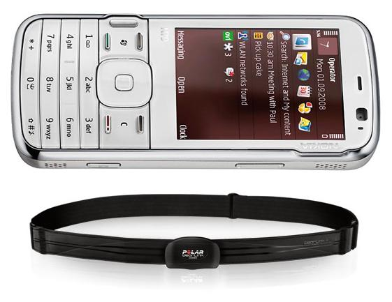 Nokia N79 Active with Bluetooth heart-rate belt