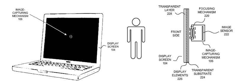 Apple files patent for camera hidden in an LCD screen