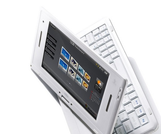 New Viliv S7 netbook with swivel screen