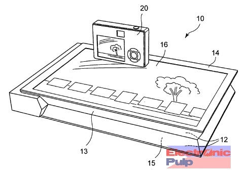 Sony touchscreen photo printer patent with wireless image transfer
