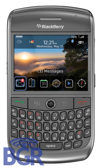 BlackBerry Gemini 9300 leaks: the 3G Curve