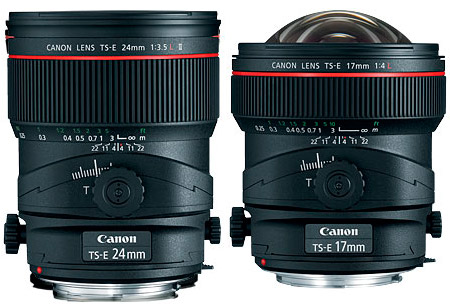 Canon new tilt-shift lens TS-E 24 3.5L II and 17 4L up for pre-Order, costly as expected.