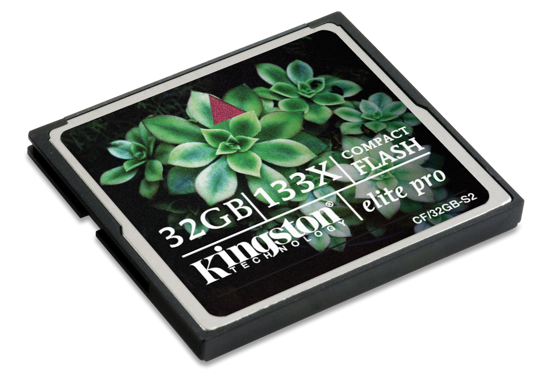Kingston intros 32GB version Elite pro CF card