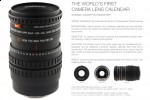 Creative camera lens packs calendar