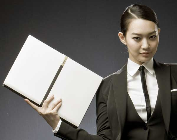 LG XNote P510: textured notebook with LEDs & haptics