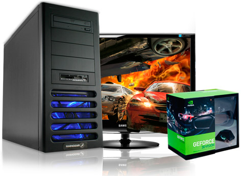 MAINGEAR hops on 3D bandwagon, Prelude 2 features GeForce 3D Vision