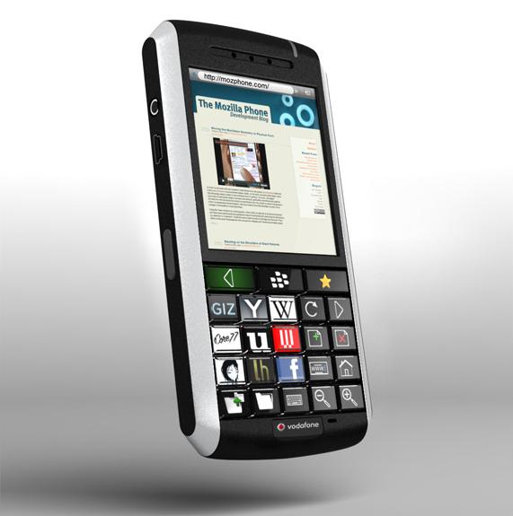 Mozilla Phone concept blends BlackBerry with OLED keys