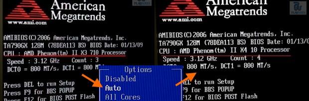 Phenom II x3 gets extra core with BIOS hack