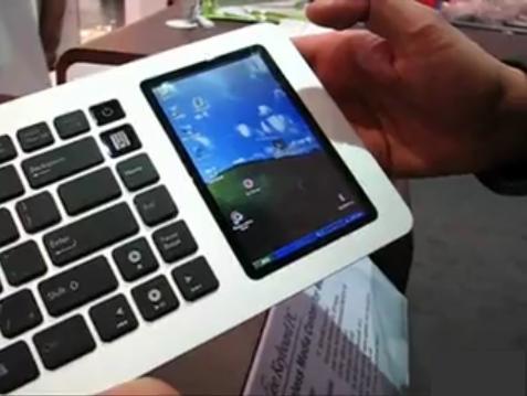 ASUS Eee Keyboard video touchscreen demo