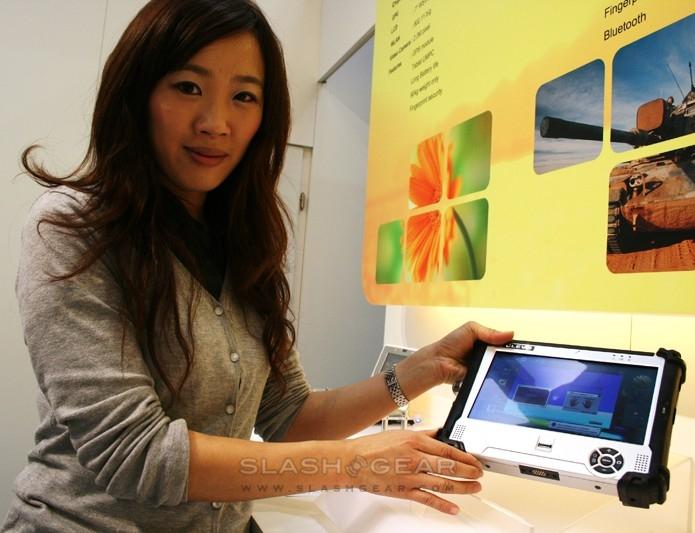 Clevo IP54 ruggedized touchscreen netslate