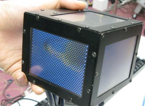 gCubic 3D cube display gets touchscreens: Video