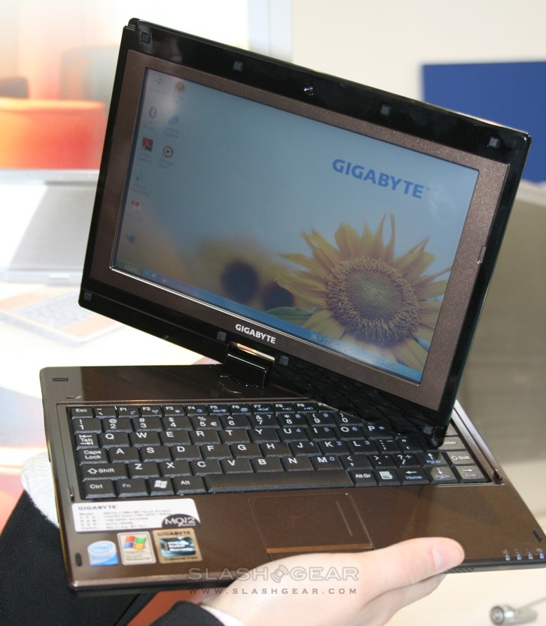 Gigabyte Touch Note M1028 hits CeBIT 2009
