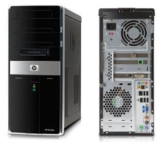 HP Pavilion Elite m9600 PC plus four new HD LCDs