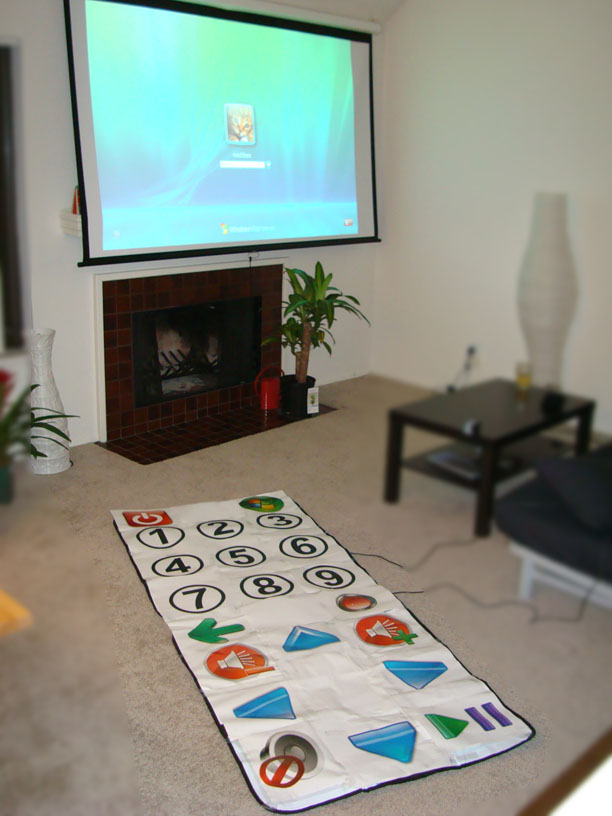 Huge Media Center remote hacked from dance mats