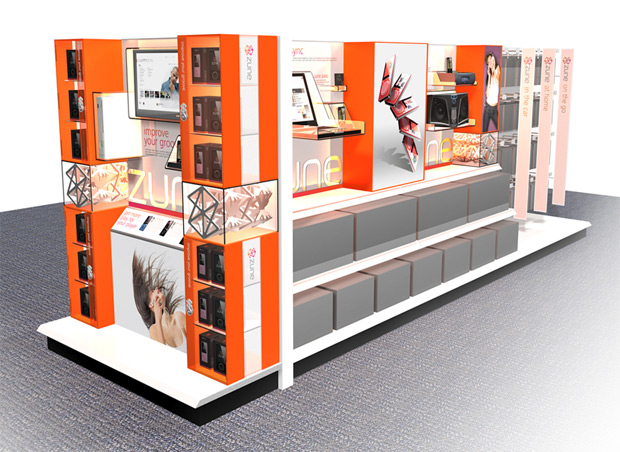 Microsoft Zune retail displays to get brighter