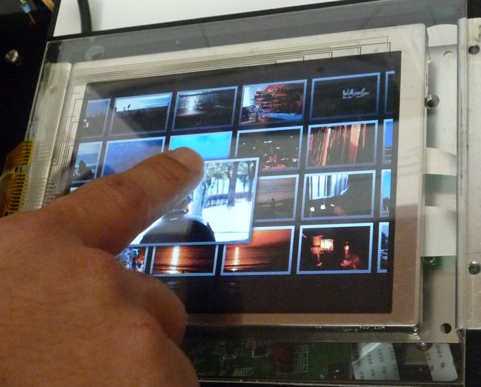 Mitsubishi 3D Touch Panel tracks proximity, hover