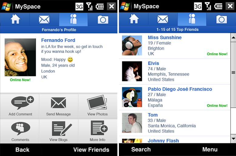 MySpace for Windows Mobile set for Summer release