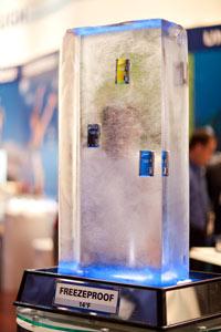 Olympus Tough series cameras get video demo : crush, drop, freeze and submerge at PMA 2009