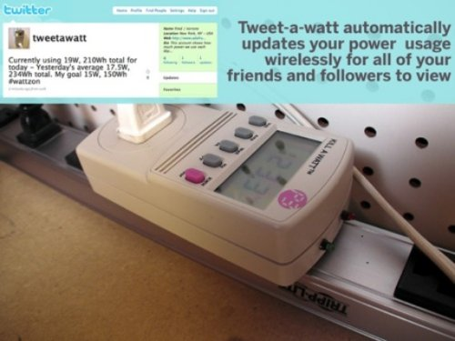 Tweet-a-Watt tweets your energy usage