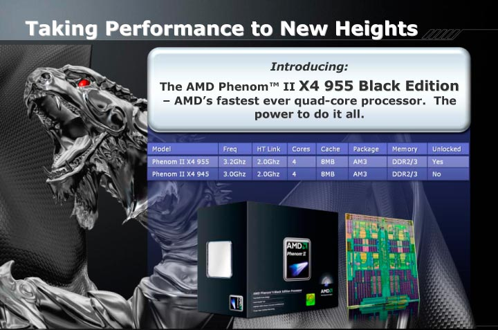 Amd Outs Socket Am3 Flagship Cpu Phenom Ii X4 955 Slashgear