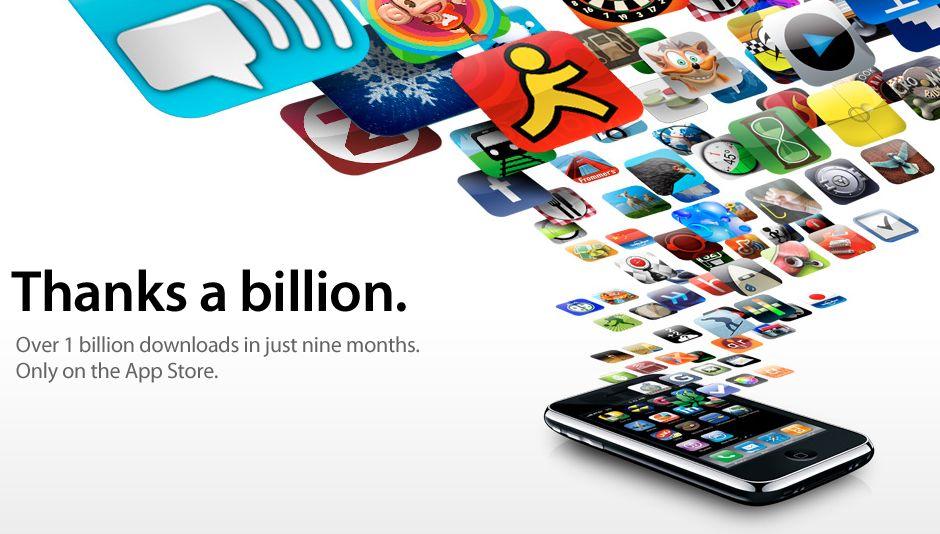 1 Billion downloads from Apple App Store