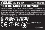 ASUS T91 touchscreen netbook clears FCC