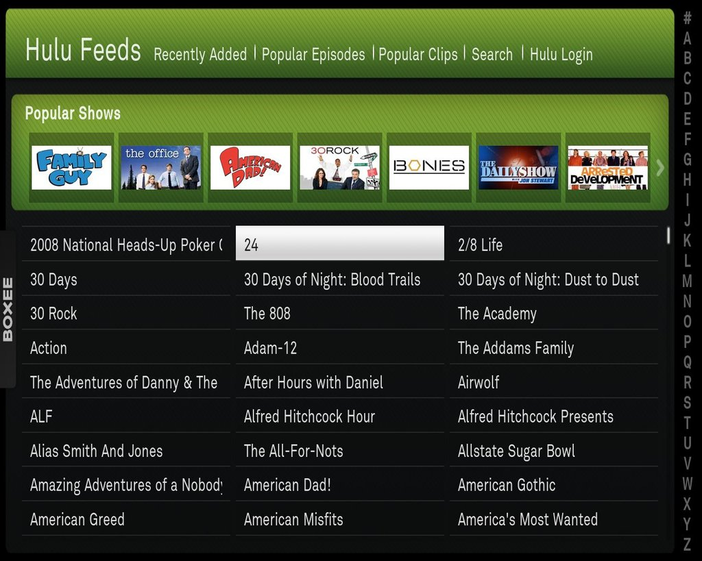Boxee gets Linux update: Hulu & App Box, still no Netflix