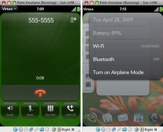 webOS screenshots preview the Palm Pre