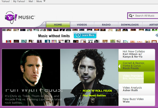 Yahoo Music gets update; acts as music hub