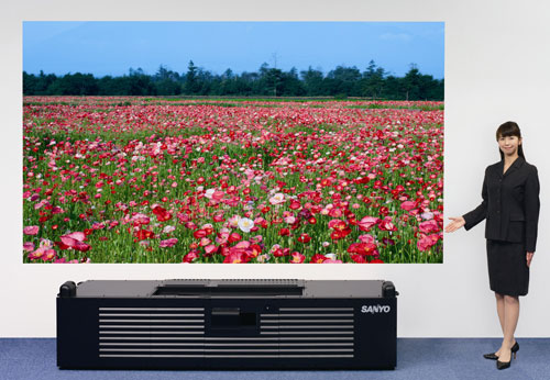 Sanyo unveils HD projector with 23.6-inch short-throw