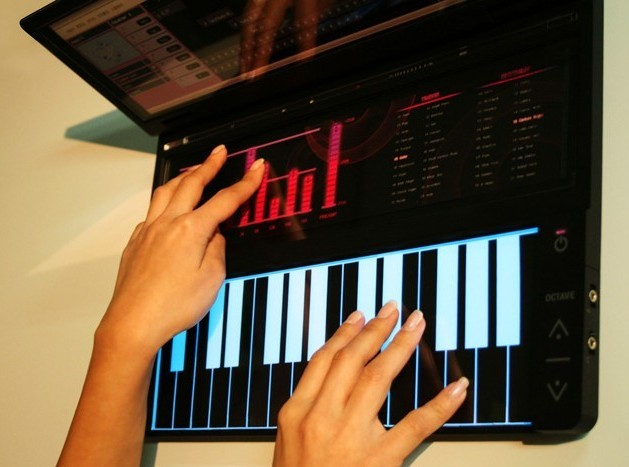 Vivace multitouch portable music studio concept