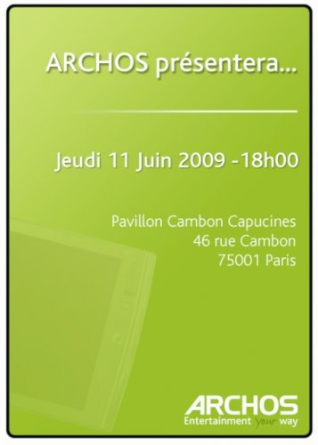 Archos launching Android 3G PMP on June 11th?