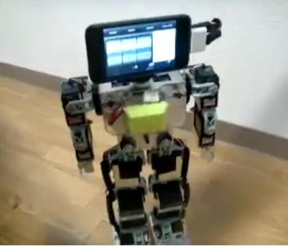 iPod touch used for DIY robot's brain