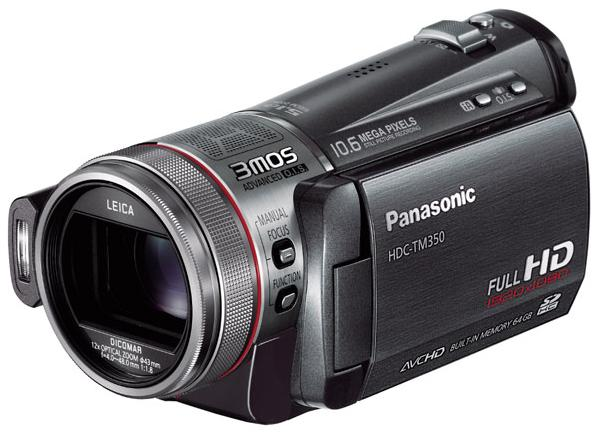 Panasonic HDC-TM350 and TM30 Full-HD camcorders stuffed with storage